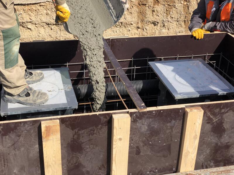 Storten van beton?