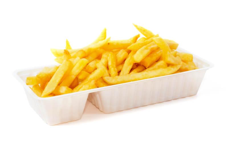 Verschillende soorten frietbakjes